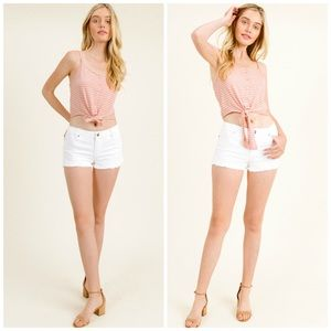 Montrez Tops - 3 FOR $40 • NEW! Pink Striped Tie Front Crop Top